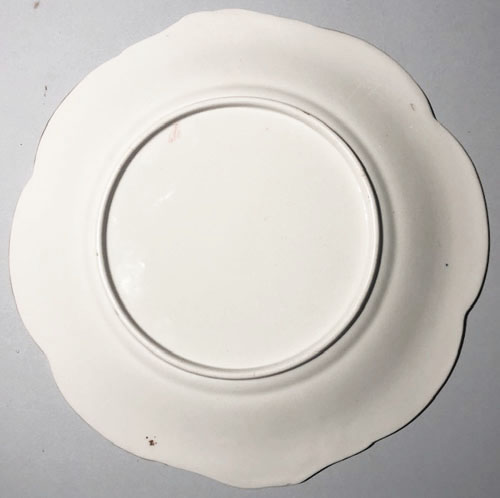 Pattern 5/460 bread and butter plate back