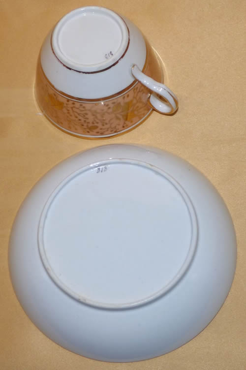 Pattern 313 cup and saucer