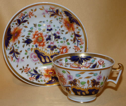 Pattern 2/729 tea cup and saucer