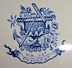 Tyrolean plate backstamp