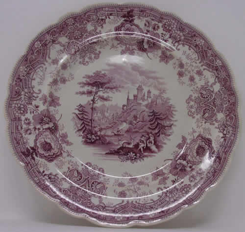 Tyrolean dinner plate front