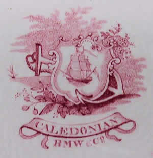 Caledonian soup plate backstamp