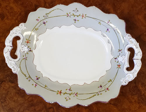 Pattern 965 oval dish top