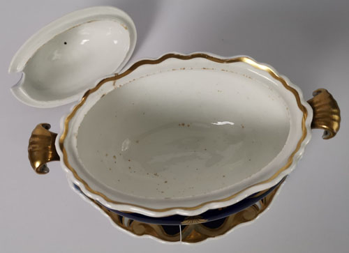 Pattern 733 sauce tureen base top and cover underside